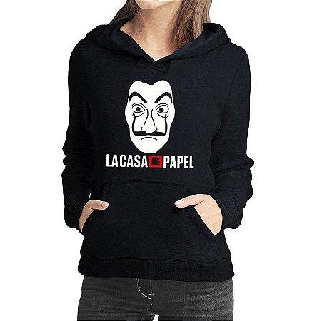 Moletom La Casa De Papel Feminino Mascara Dali Agasalho Moda Geek Nerd Personalizado