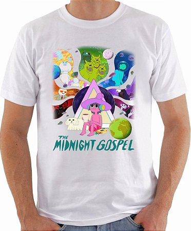 Camiseta The Midnight Gospel Camisa Desenho Animado Netflix Blusa Moda Geek Nerd Masculina