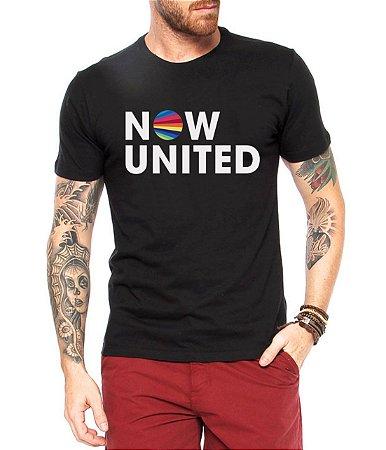 Camiseta Now United Camisa Masculina Logo Grupo Pop Music Tshirt Moda Geek Nerd Personalizada