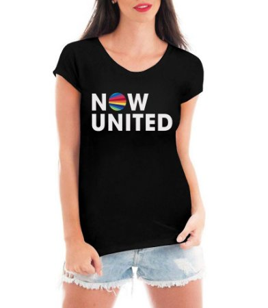 Camiseta Now United Camisa Feminina Logo Grupo Pop Music Tshirt Moda Geek Nerd Personalizada