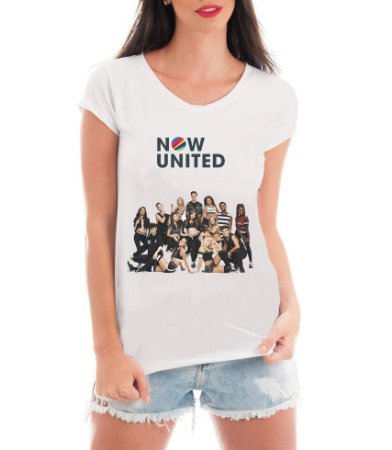 Camiseta Now United Integrantes Camisa Feminina Grupo Pop Music Tshirt Moda Geek Nerd Personalizada