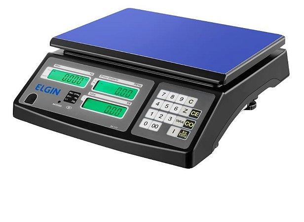 Balança Digital Comercial Computadora com Bateria 15kg Elgin SA-110
