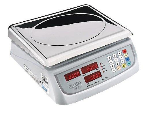 Balança Digital Comercial Computadora com Bateria 15kg Elgin DP15 Plus