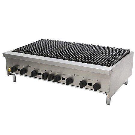 Char Broiler Deguste Luxo a Gás 6 Queimadores Inox Venâncio CGG90