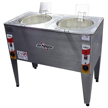Fritadeira Elétrica Industrial Reativada Dupla Água e Óleo Skymsen 8000W FRP-24D