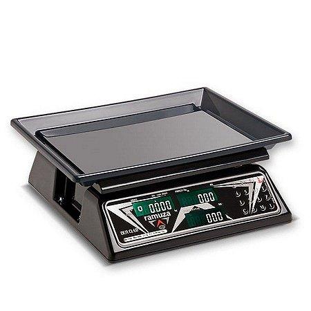 Balança Digital Comercial Computadora 15kg com Bateria Price Black DCRB CL 15 Ramuza