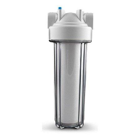 """RS19 - Filtro de Água 9.3/4"""" para Ponto de Entrada com Carcaça em Policarbonato Transparente ¾"""" Purefer"""