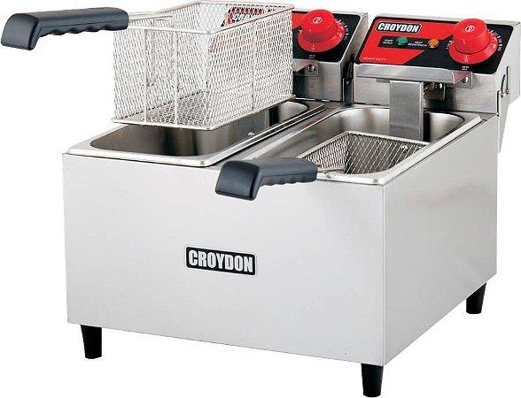 Fritadeira Elétrica Industrial Heavy Duty Croydon 2 Cubas 2x3 litros FH2A