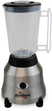 Liquidificador Industrial 1,5 Litros Skymsen Inox 800W Alta Rotação Copo Plástico Transparente LT-1,5-N