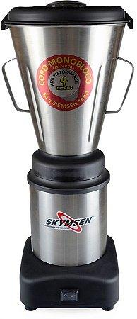 Liquidificador Industrial 4 Litros Skymsen 0,5CV 665W Copo Inox Monobloco LS-04MB-N