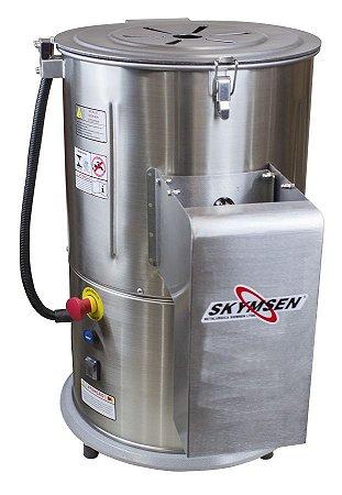 Descascador de Tubérculos Industrial 0,5CV Inox 10 kilos Skymsen DB-10