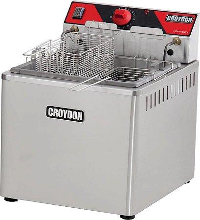 Fritadeira Elétrica Industrial de Mesa Croydon Água e Óleo 23 Litros C/ Filtro 5000w FAM5