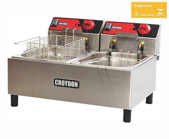 Fritadeira Industrial Croydon Quente Elétrica Fc2b 220v