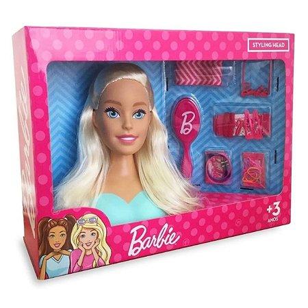 Boneca Barbie Busto - Pupee - Para Pentear E Maquiar