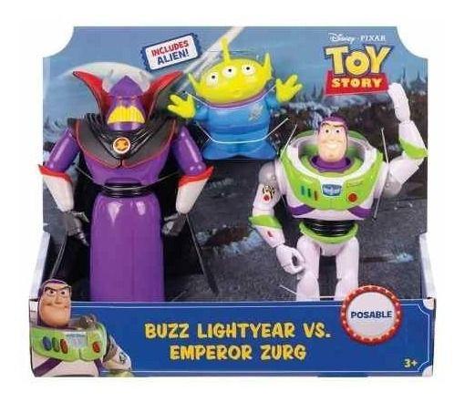 Toy Story Bonecos 28cm - Buzz E Zurg - Mattel Gjt94