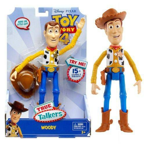 Boneco Toy Story 4 True Talkers Woody Com Sons Mattel Gpj27