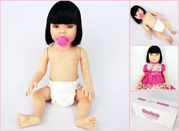 Bebê Reborn KAYDORA Pode Dar Banho Corpo Todo 100% Silicone
