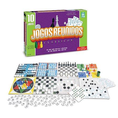 Conjunto com 10 Jogos Clássicos Reunidos Nig Brinquedos