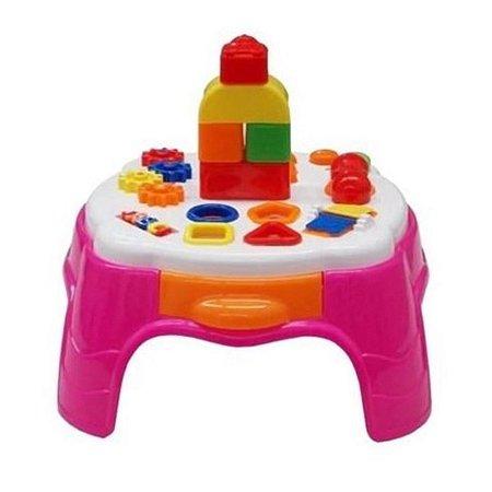 Play Time Mesa de Atividades Rosa Barbie Cotiplás 2049