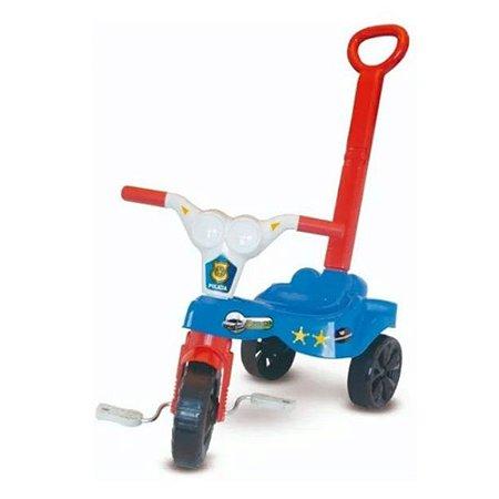 Triciclo Infantil Velotrol Kepler Com Empurrador Azul