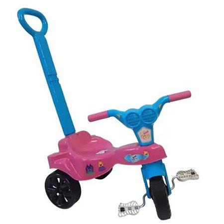 Triciclo Infantil Velotrol Kepler Com Empurrador Rosa