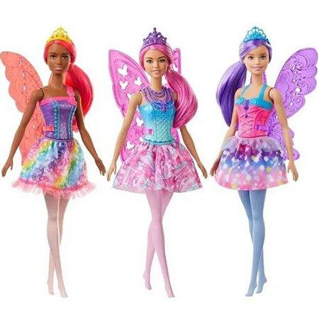 Boneca Barbie Com Asas Fada Dreamtopia Mattel Gjj98 Sortidas