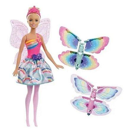 Boneca Barbie Fada Asas Voadoras Dreamtopia Mattel - Frb07