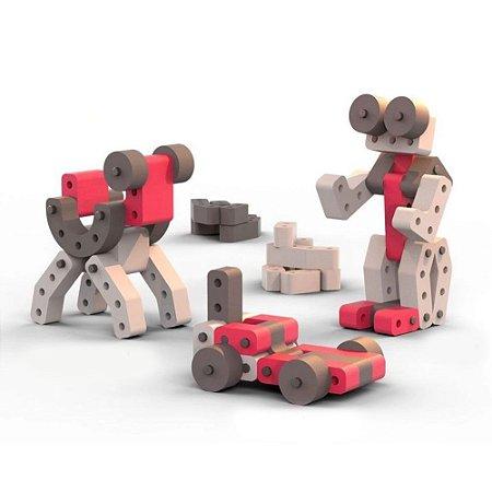 Brinquedo de montar Playou Invent Mais Robô Buzz 40 peças