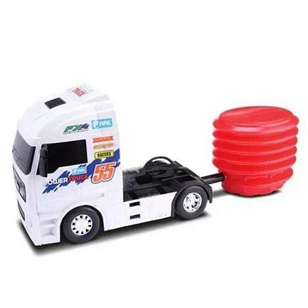Caminhão Formula Truck Com Lançador Power Truck - Omg Kids