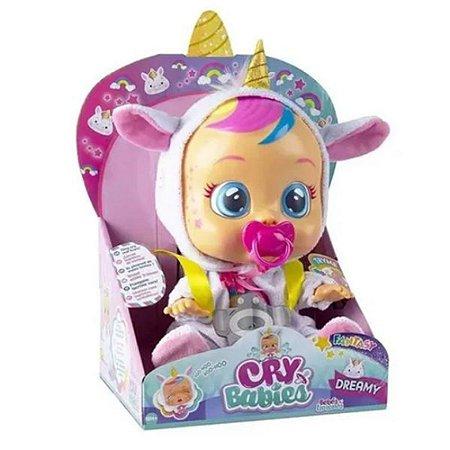 Boneca Cry Babies Dreamy Chora Lagrimas Multilaser BR1029