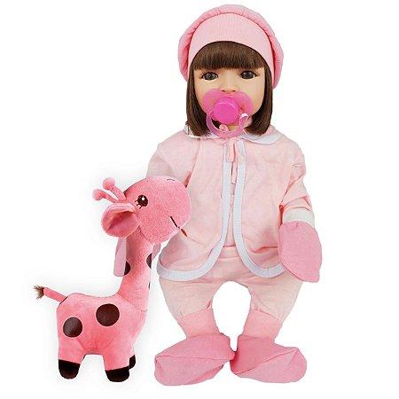Boneca Bebe Reborn Girafinha Boneca Realista Linda