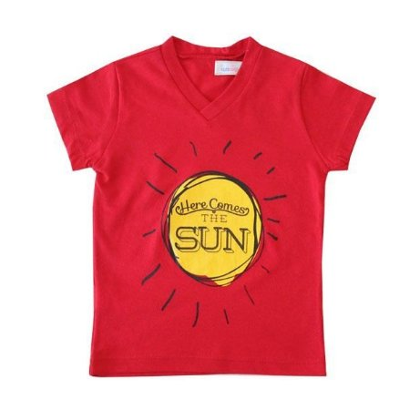 T-shirt Here Comes The Sun Red
