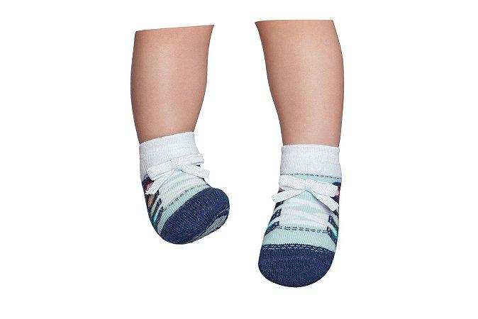Meia Sapato Tênis Azul Piscina