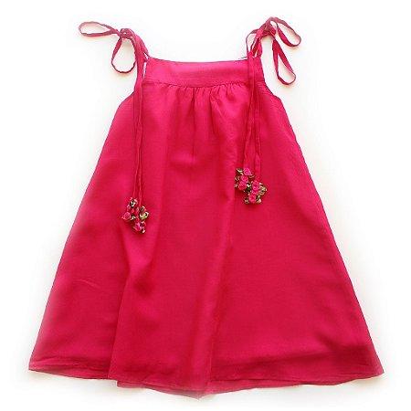 Vestido Alcinha Flores Pink