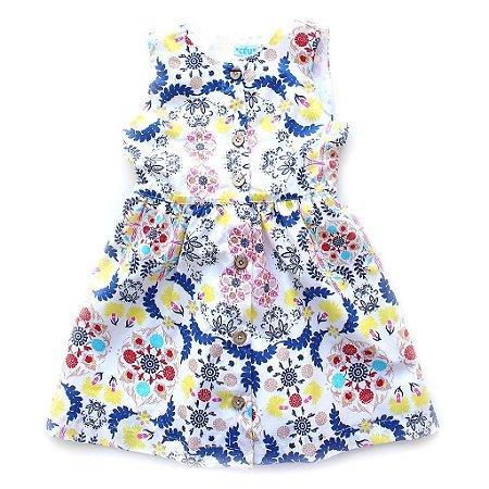 Vestido Azulejo Botãozinho