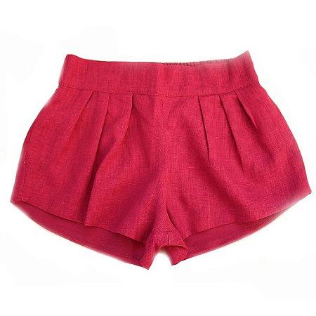 Short Linho Pink