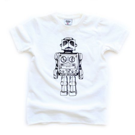 T-shirt Robô Offwhite