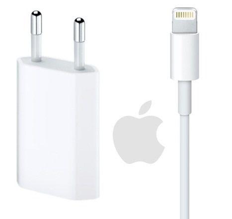 Carregador USB de 5W + Cabo Lightning USB (1 m) para Iphone 5 5s 6 6s 7 8 X Plus Original Genuino Lacrado Apple