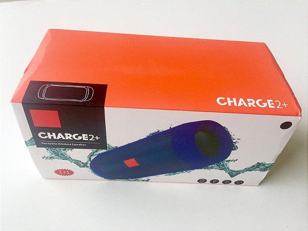 Caixa Som Bluetooth Jbl Charge 2 + P2 Usb Caixinha Portátil