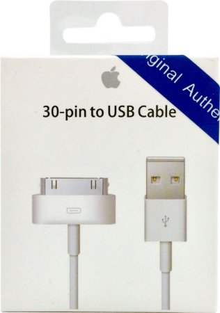 Cabo USB Apple para iPhone 4 4S Ipad Original Genuino Lacrado (1 m)