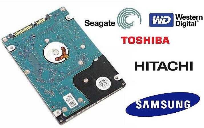 """HD para notebook 160GB 250GB 320GB 500 Gb 1TB Slim 2,5"""" Sata"""