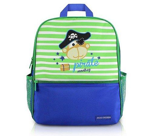 Mochila Escolar Passeio Macaquinho Pirata Infantil Pequeninos