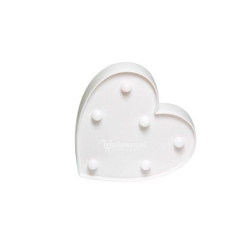 Luminária De Led Decorativa Mini Coração 16x15 Branco