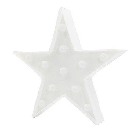 Luminária Estrela De Led Decorativa Luminoso 29x18cm