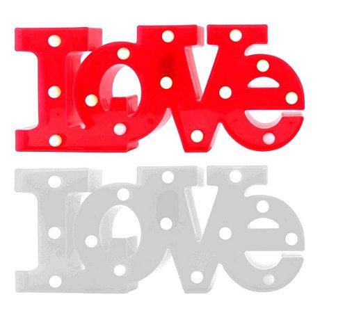 Luminária De Led Decorativo 3d Love Amor 40x16 Cm Lindo