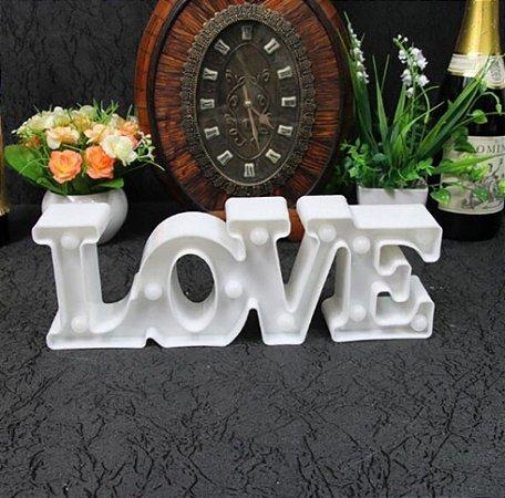 Linda Luminária Letreiro De Led 3d Love Amor Decorativo 29x10