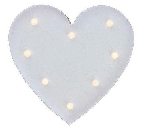 Luminária De Led Decorativa Coração 10 Leds 3d 26x27 cm