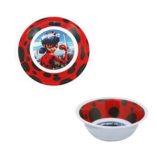 Bowl Tigela Para Refeição Infantil Miraculous Ladybug