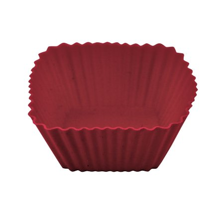 Kit Com 6 Formas De Silicone Quadrada Para Cupcake