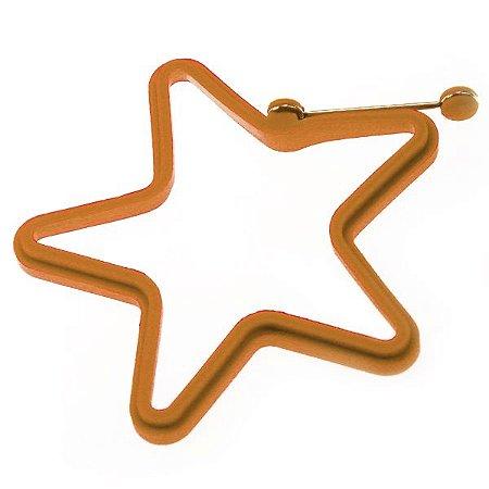 Forma Molde Estrela De Silicone c/ Puxador p/ Ovo, Tapioca, Panqueca